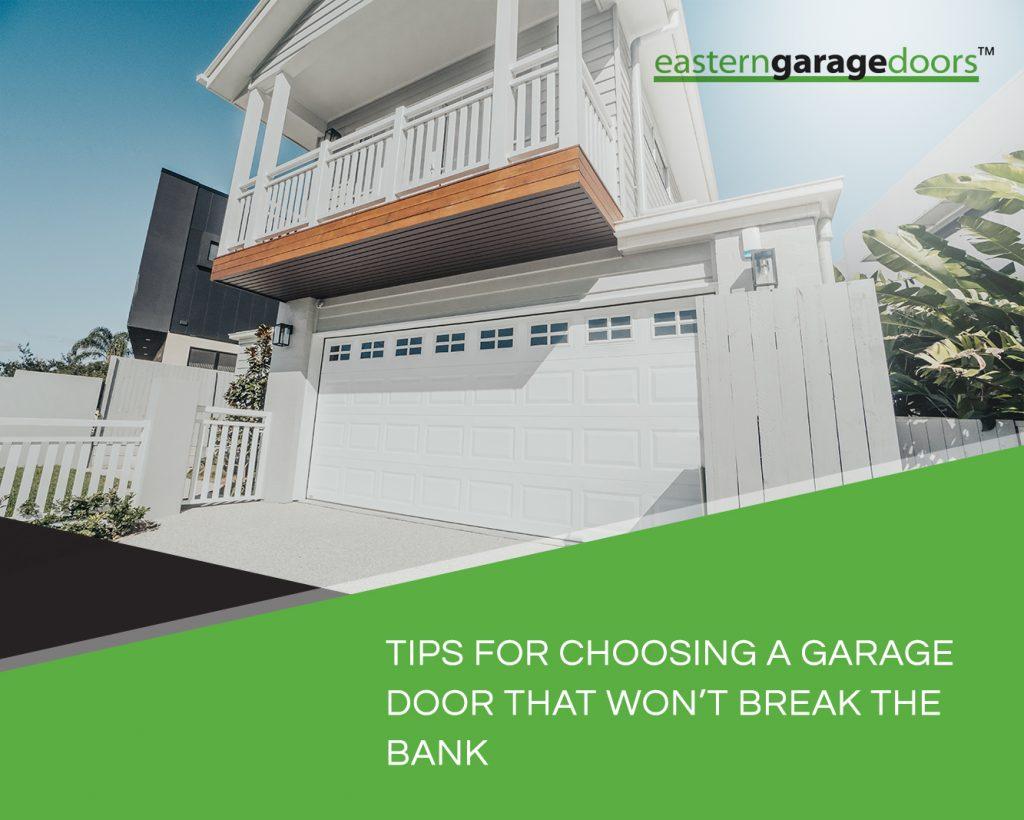 garage door types australia